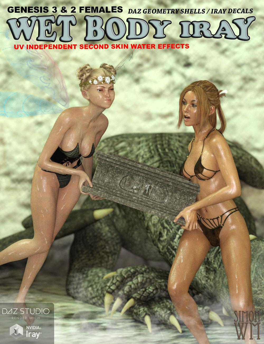 Wet Body Iray Bundle for Genesis 3 & 2 Female(s) by: SimonWM, 3D Models by Daz 3D