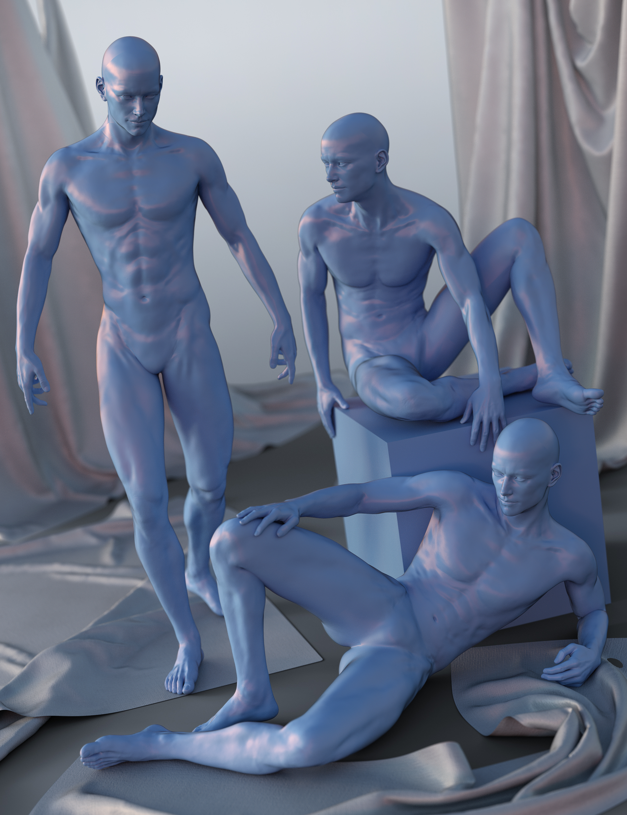 Blue Steel Poses for Michael 7 by: Devon, 3D Models by Daz 3D