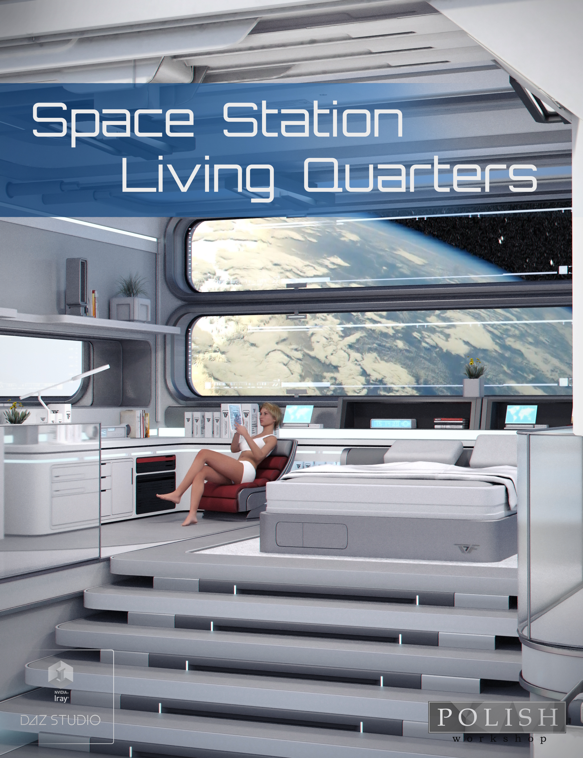 Space Station Living Quarters by: Polish, 3D Models by Daz 3D