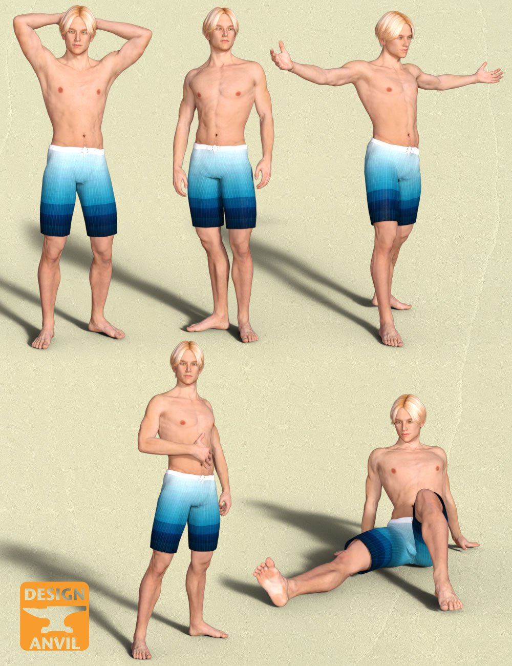 DA Variety Pose Pack for Genesis 3 Male & Michael 7 by: Design Anvil, 3D Models by Daz 3D