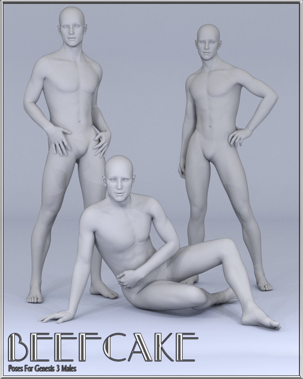 Beefcake Poses for Genesis 3 Male by: lunchlady, 3D Models by Daz 3D