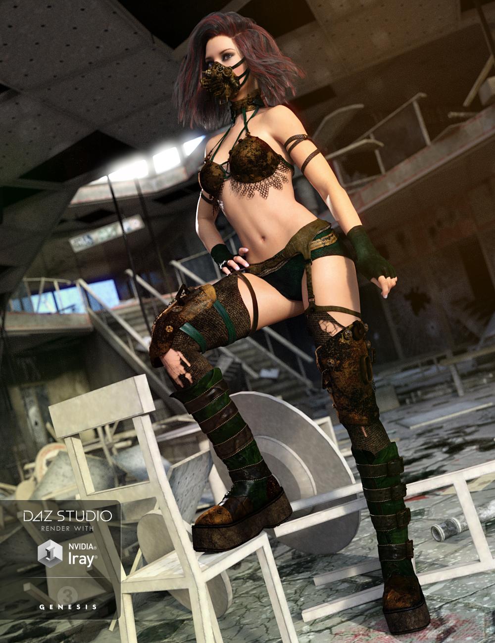 Wastelander for Genesis 3 Female(s) by: Anna BenjaminBarbara Brundon, 3D Models by Daz 3D