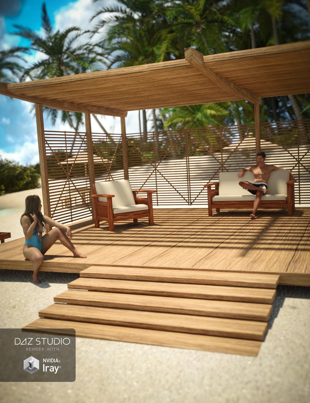 Modern Beach Hut by: , 3D Models by Daz 3D