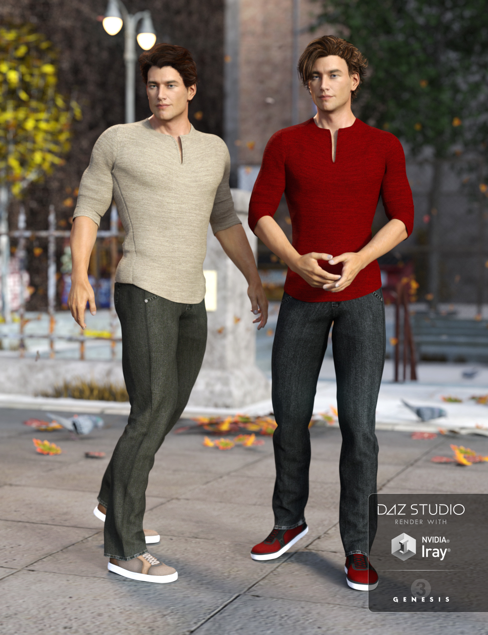 Laid Back Outfit Textures by: Sarsa, 3D Models by Daz 3D