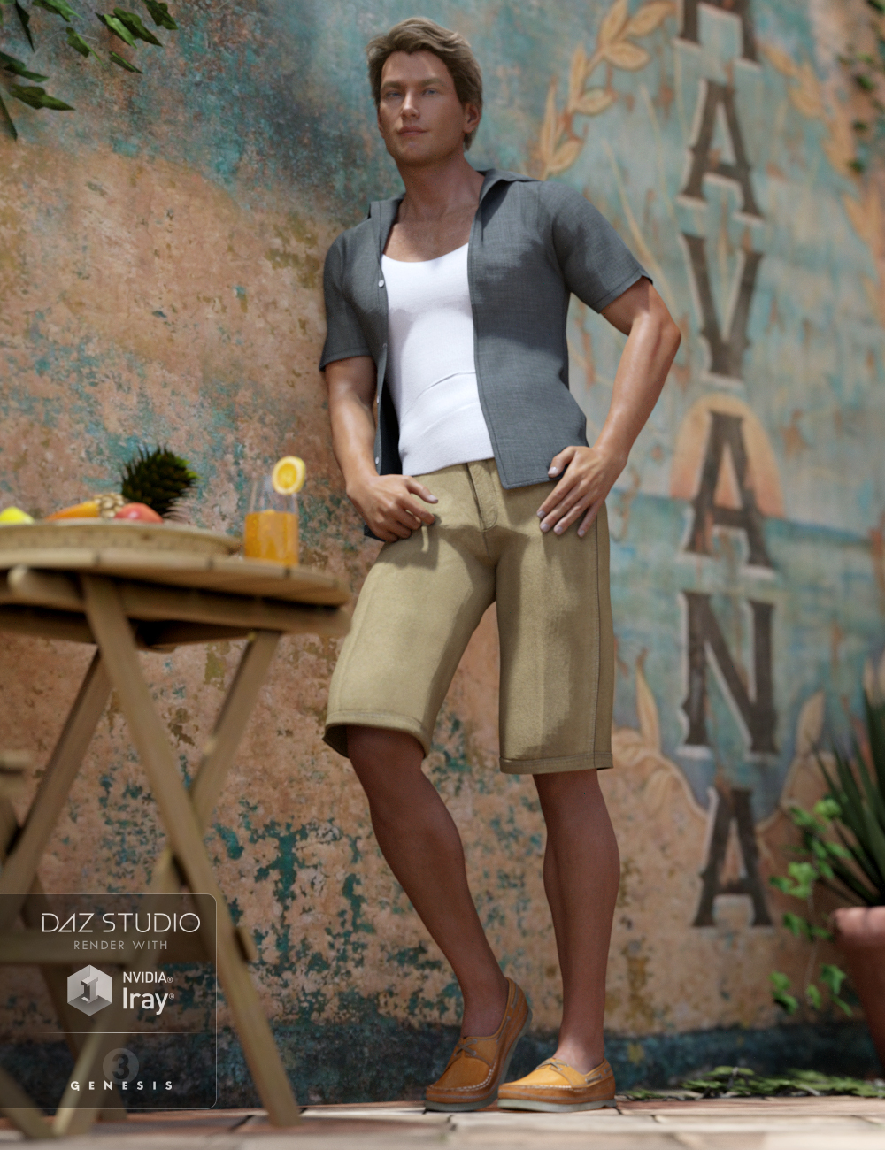 Casual Heat Outfit for Genesis 3 Male(s) by: NikisatezSarsa, 3D Models by Daz 3D