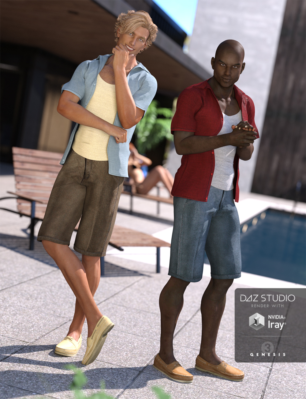 Casual Heat Outfit Textures by: Sarsa, 3D Models by Daz 3D