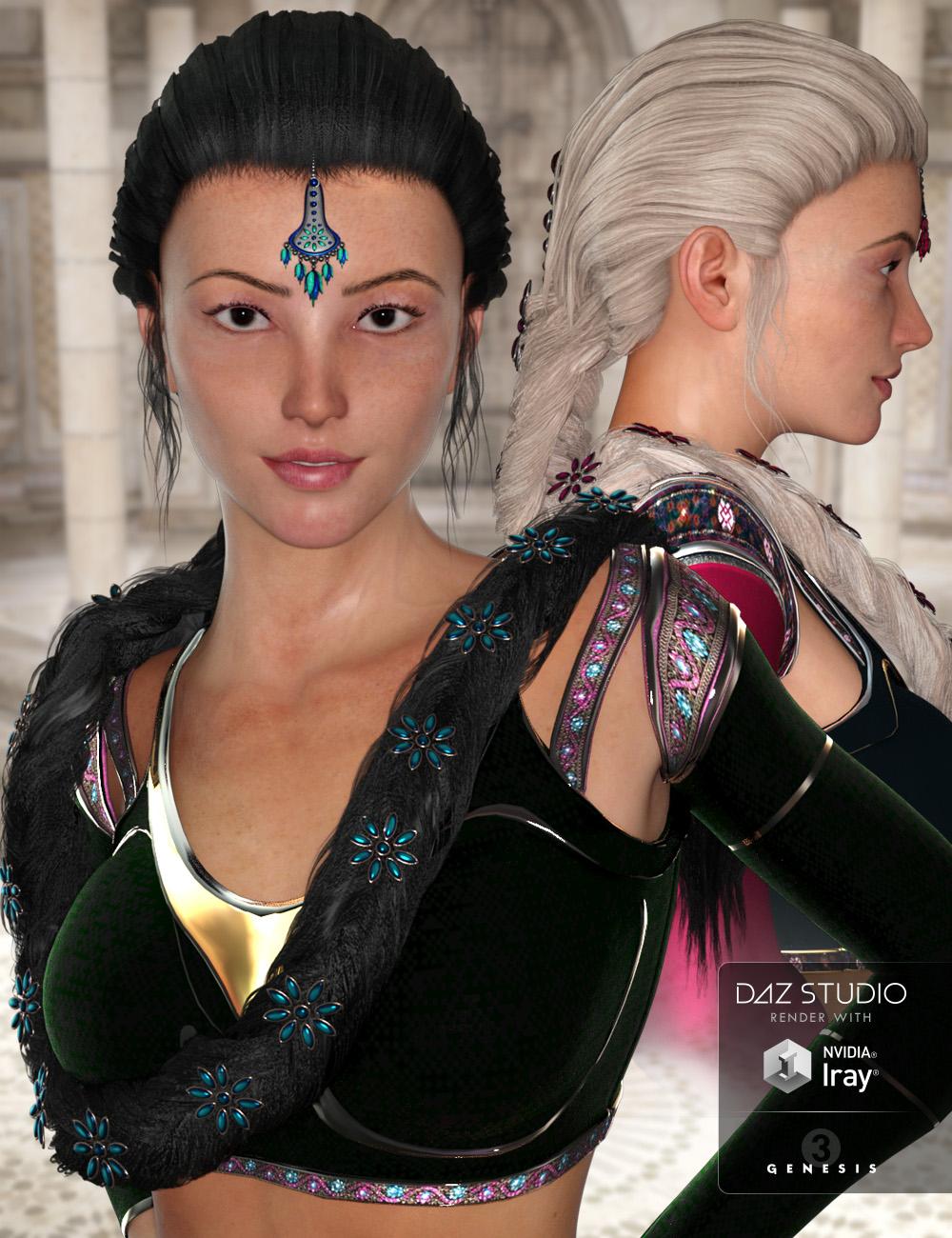 NeoIndia Braid for Genesis 2 Female(s) and Genesis 3 Female(s) by: Arki, 3D Models by Daz 3D