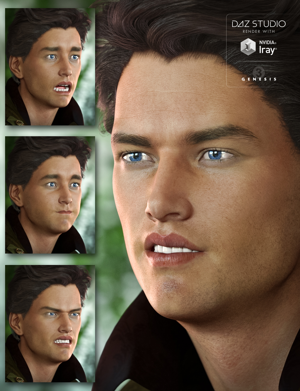 Michael 7 Expressive by: Neikdian, 3D Models by Daz 3D