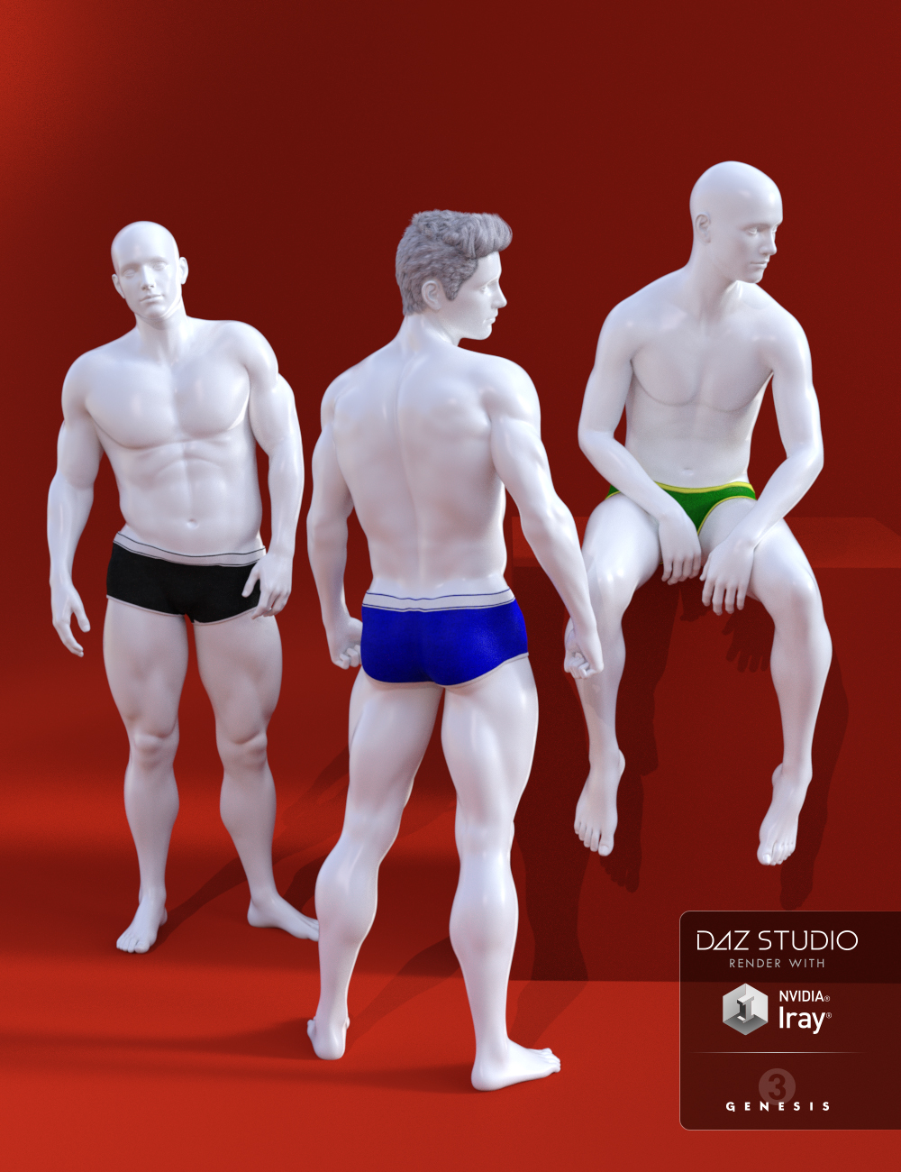 Photo Art Poses for Genesis 3 Male(s) by: Muscleman, 3D Models by Daz 3D