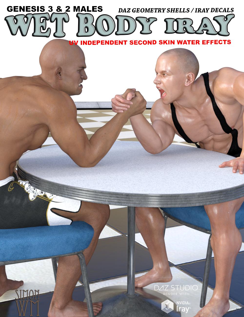 Wet Body Iray Bundle for Genesis 3 & 2 Male(s) by: SimonWM, 3D Models by Daz 3D