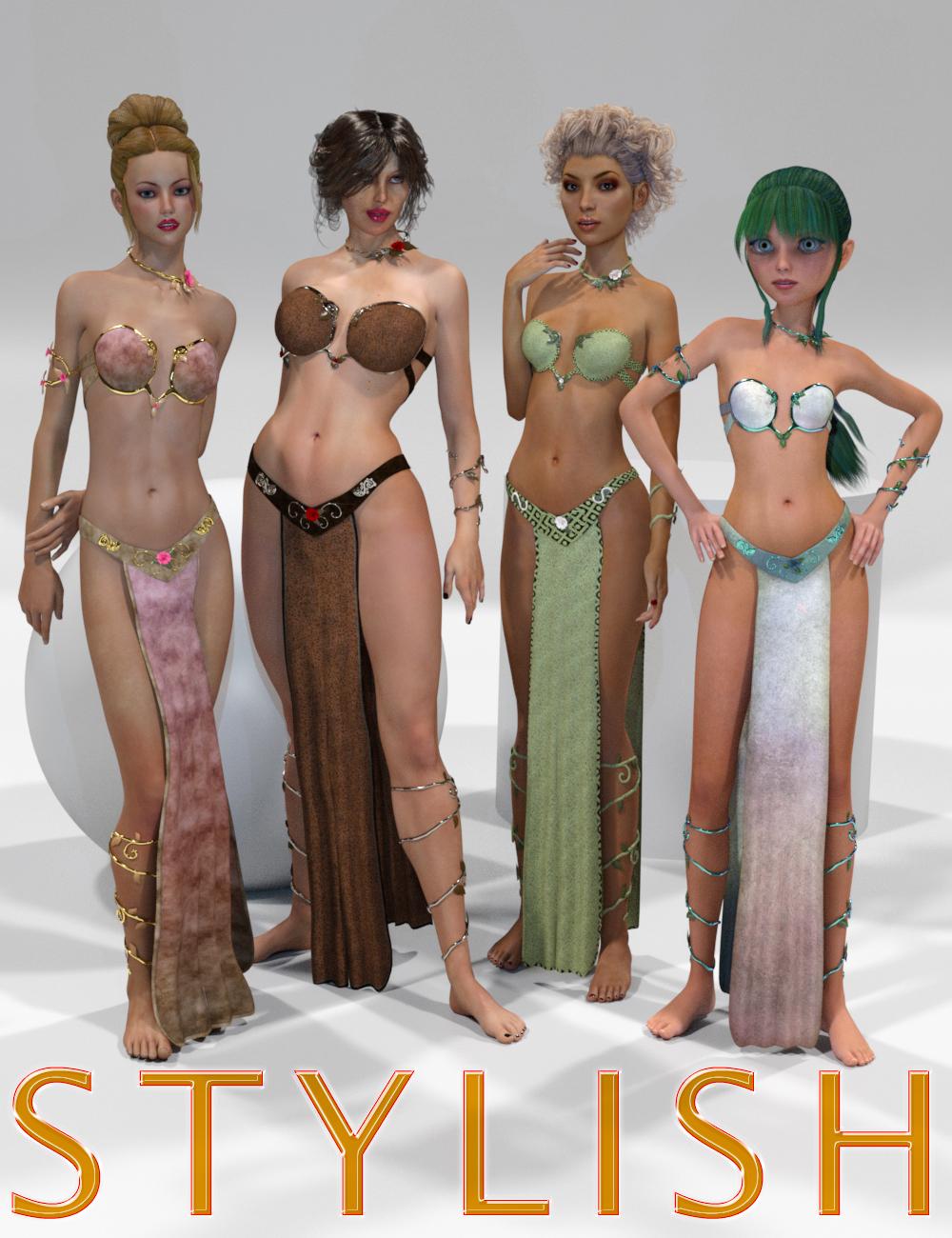 Genesis 2 Legacies for Genesis 3 Female: Stylish by: SloshWerks, 3D Models by Daz 3D