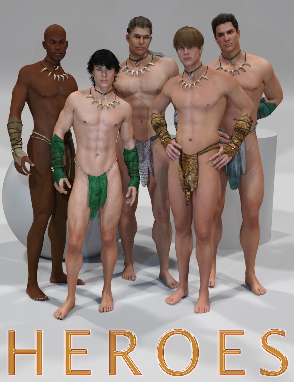 Genesis 2 Legacies for Genesis 3 Male: Heroes by: SloshWerks, 3D Models by Daz 3D