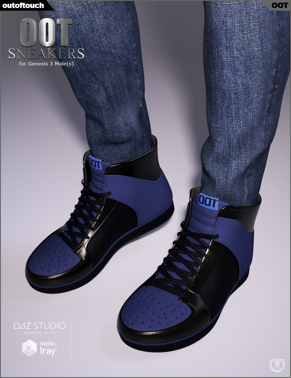 OOT Sneakers for Genesis 3 Male(s) by: outoftouch, 3D Models by Daz 3D