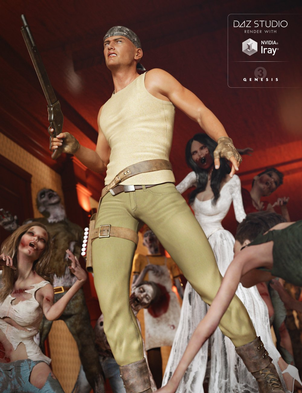 Renegade for Genesis 3 Male(s) by: , 3D Models by Daz 3D
