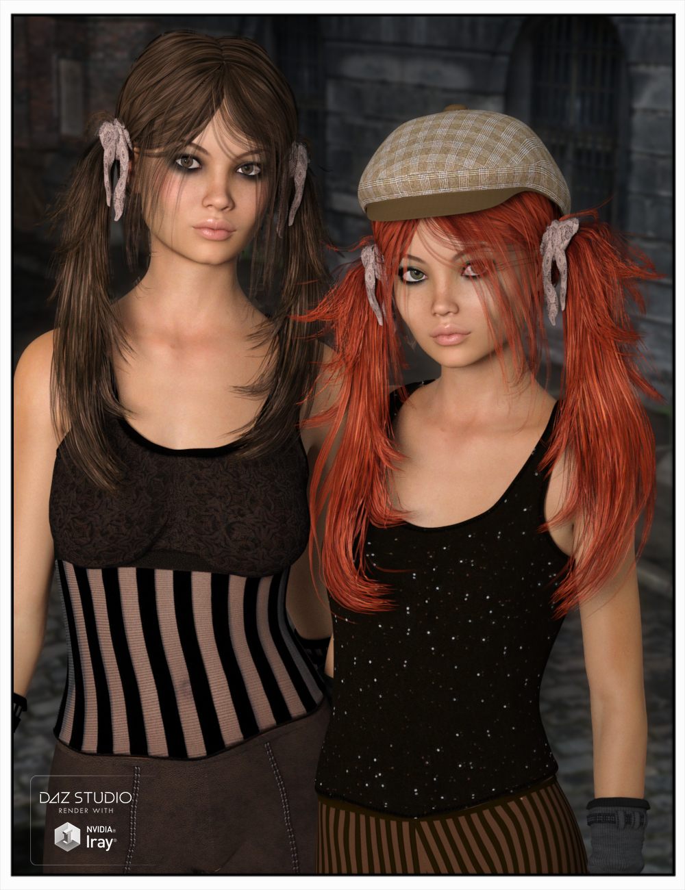 Octavia Hair for Genesis 3 Female(s) and Genesis 2 Female(s) by: SWAM, 3D Models by Daz 3D