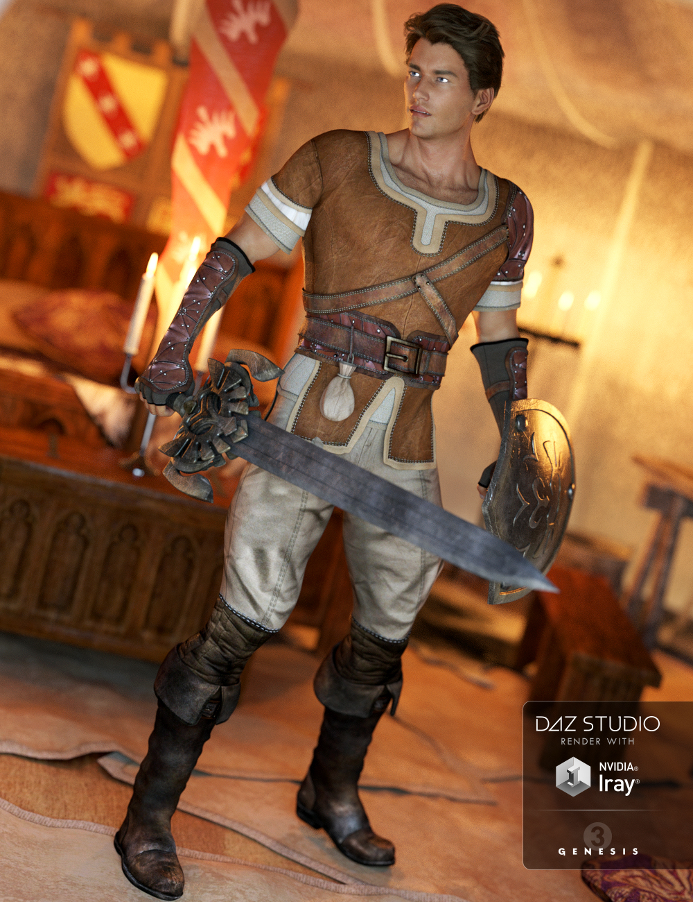 Sword Of Time Outfit for Genesis 3 Male(s) by: SarsaUmblefugly, 3D Models by Daz 3D