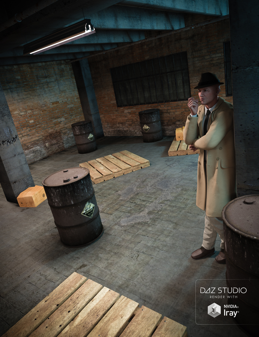 Old Warehouse Room by: , 3D Models by Daz 3D