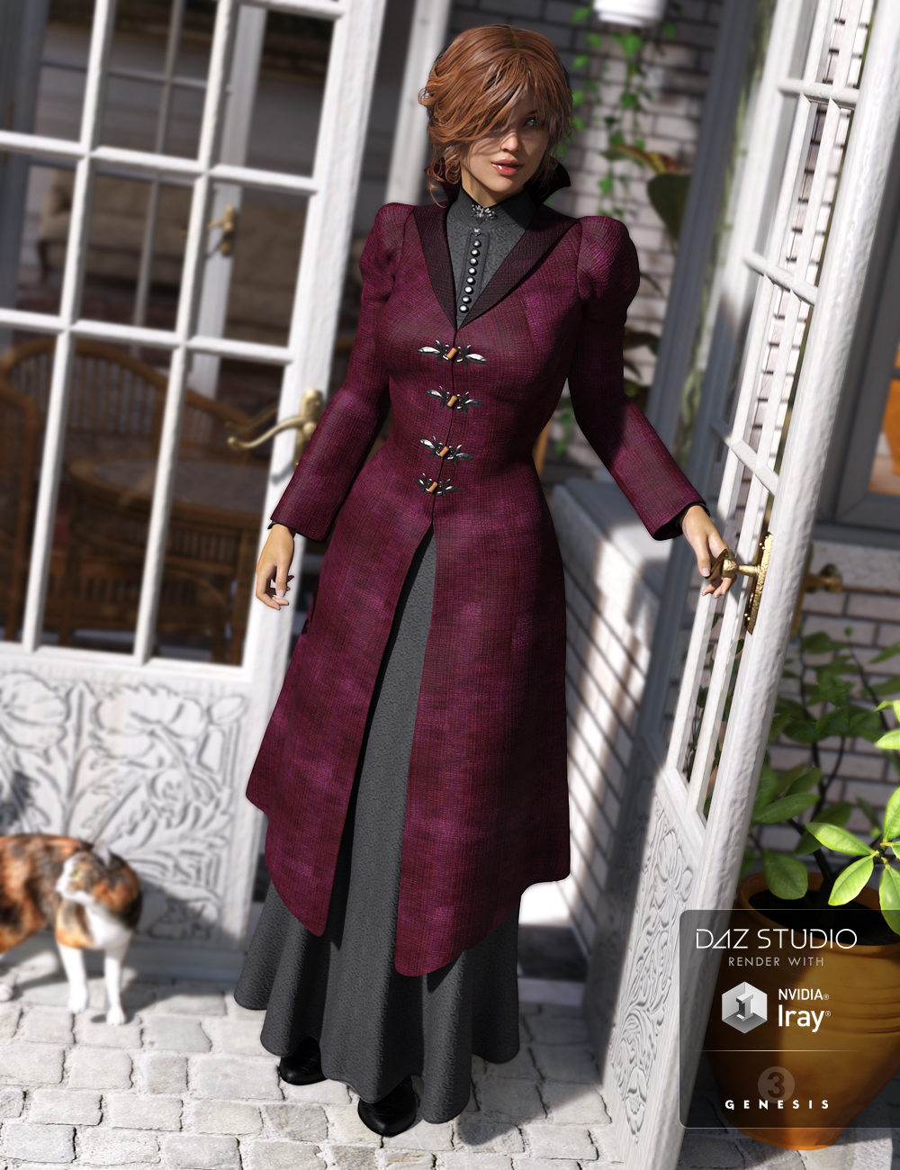 Victoria Iven for Genesis 3 Female(s) by: Ravenhair, 3D Models by Daz 3D
