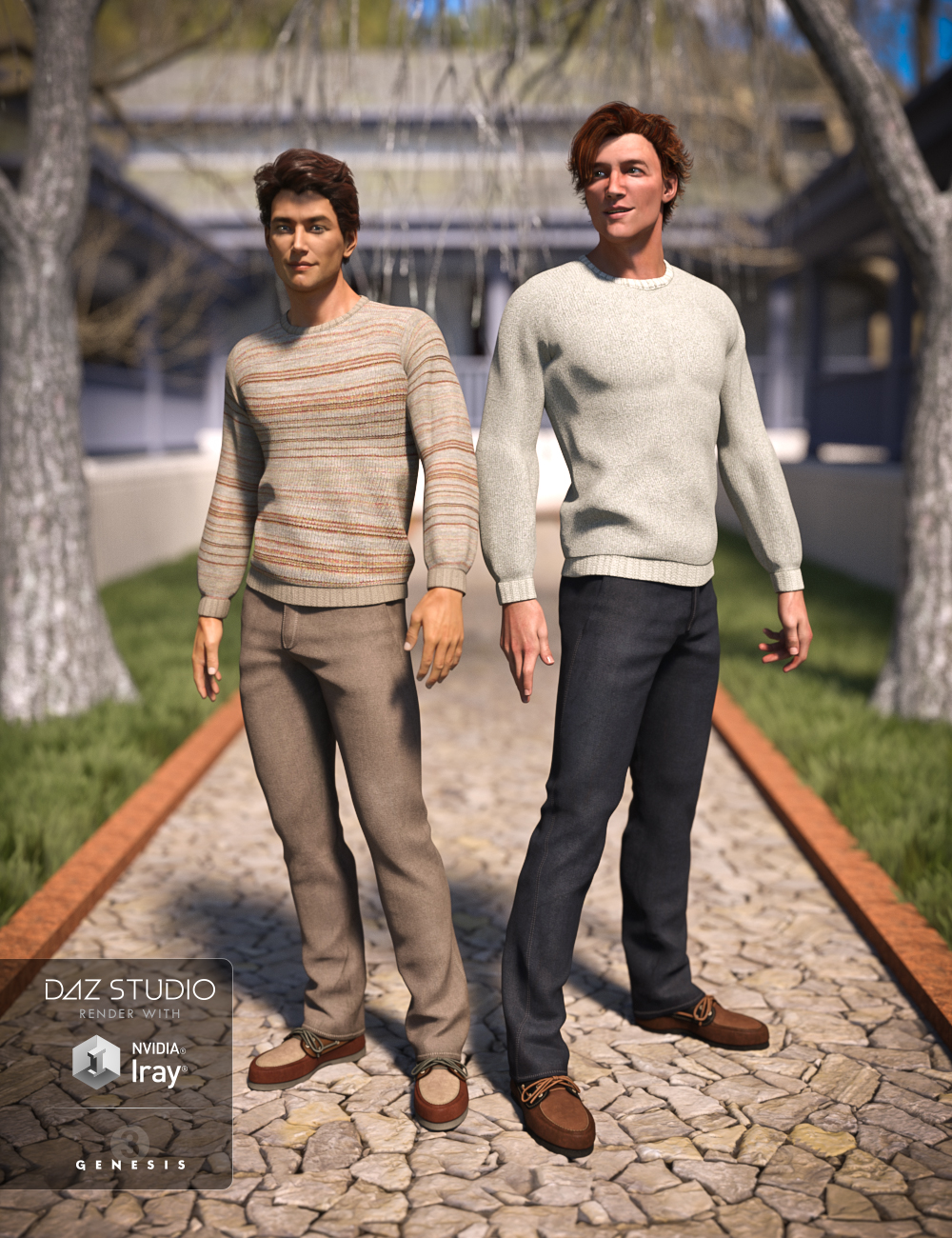 Casual Winter Textures by: Sarsa, 3D Models by Daz 3D