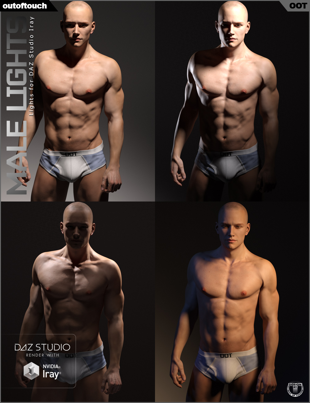 OOT Male Iray Lights by: outoftouch, 3D Models by Daz 3D