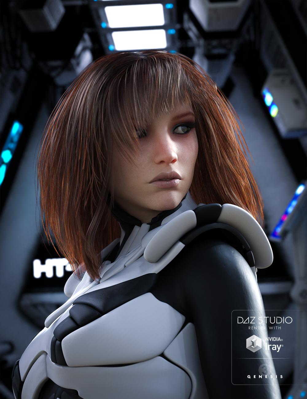 Apple Hair for Genesis 3 Female(s) by: goldtassel, 3D Models by Daz 3D