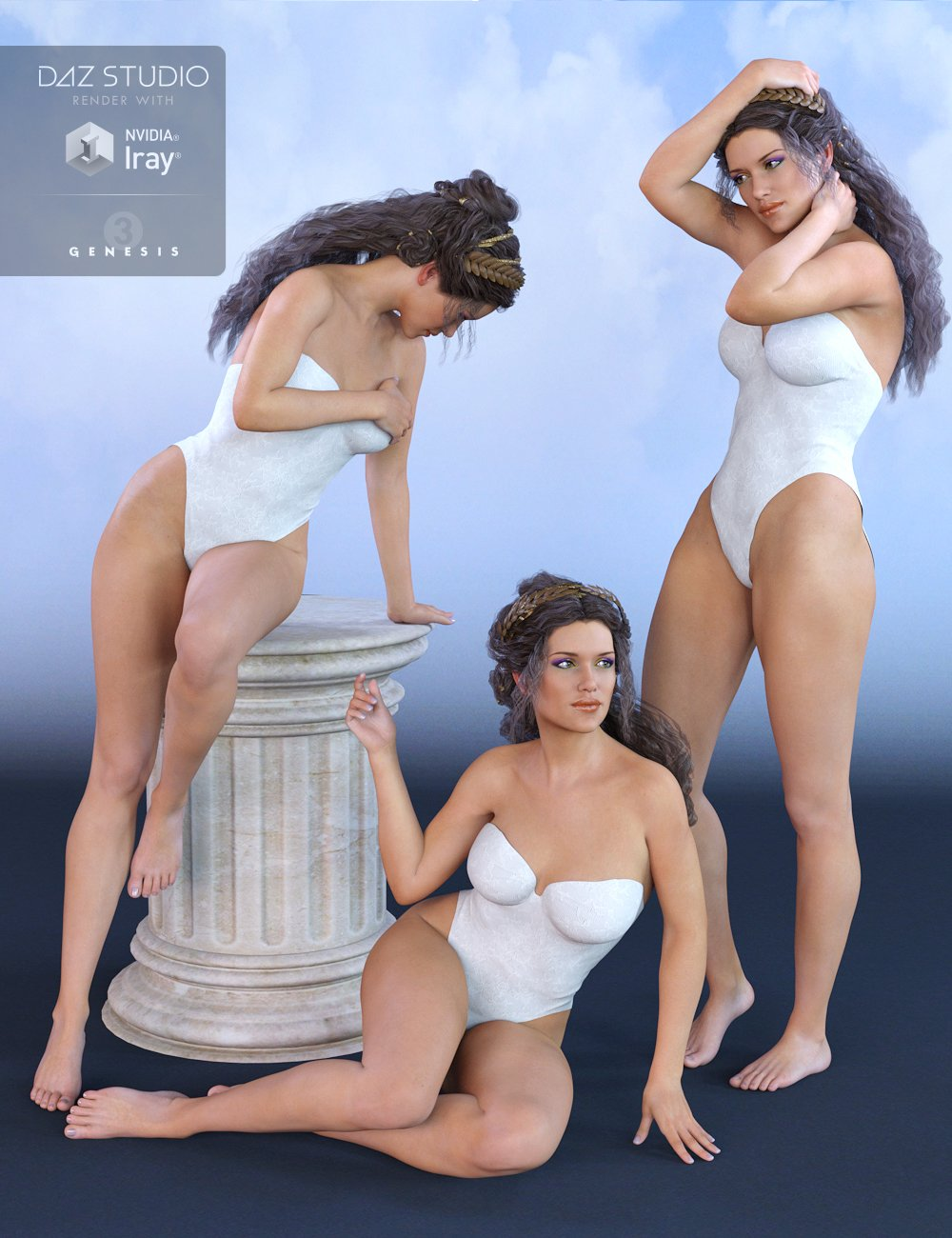 Greek Goddess Poses for Olympia 7 by: ironman13, 3D Models by Daz 3D