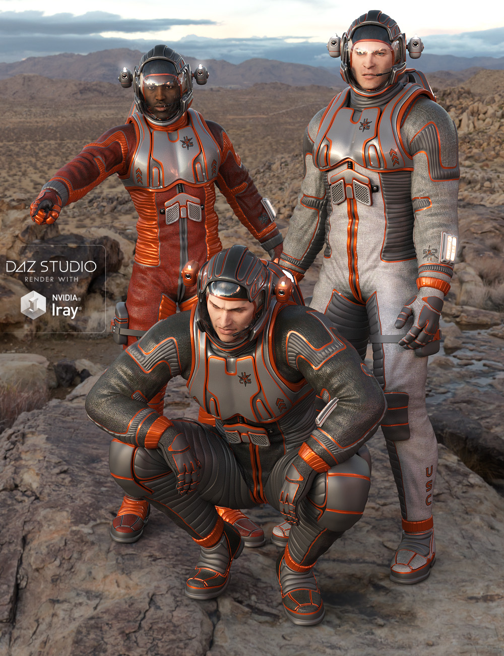 Planet Explorer for Genesis 2 Male(s) by: midnight_stories, 3D Models by Daz 3D