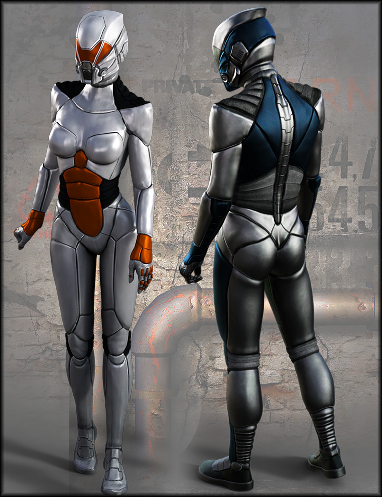 HFS Wraith Suit Textures by: Shox-Design, 3D Models by Daz 3D