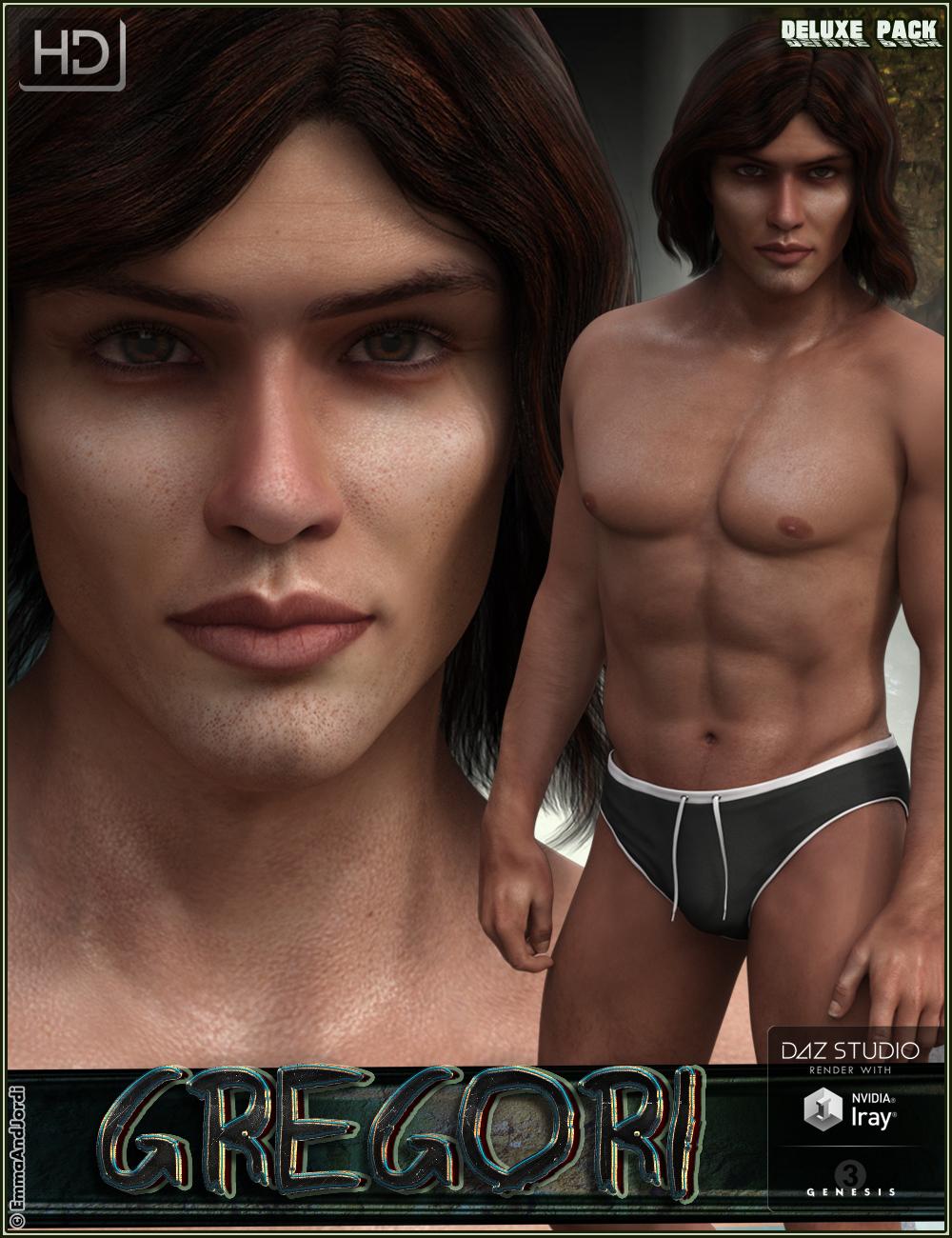 EJ Gregori HD Deluxe Pack by: EmmaAndJordi, 3D Models by Daz 3D