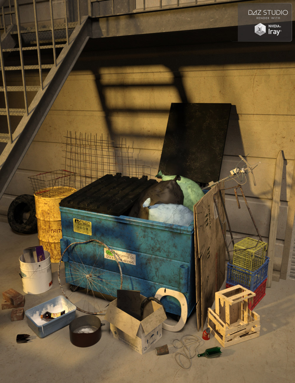 Everyday Junk by: maclean, 3D Models by Daz 3D