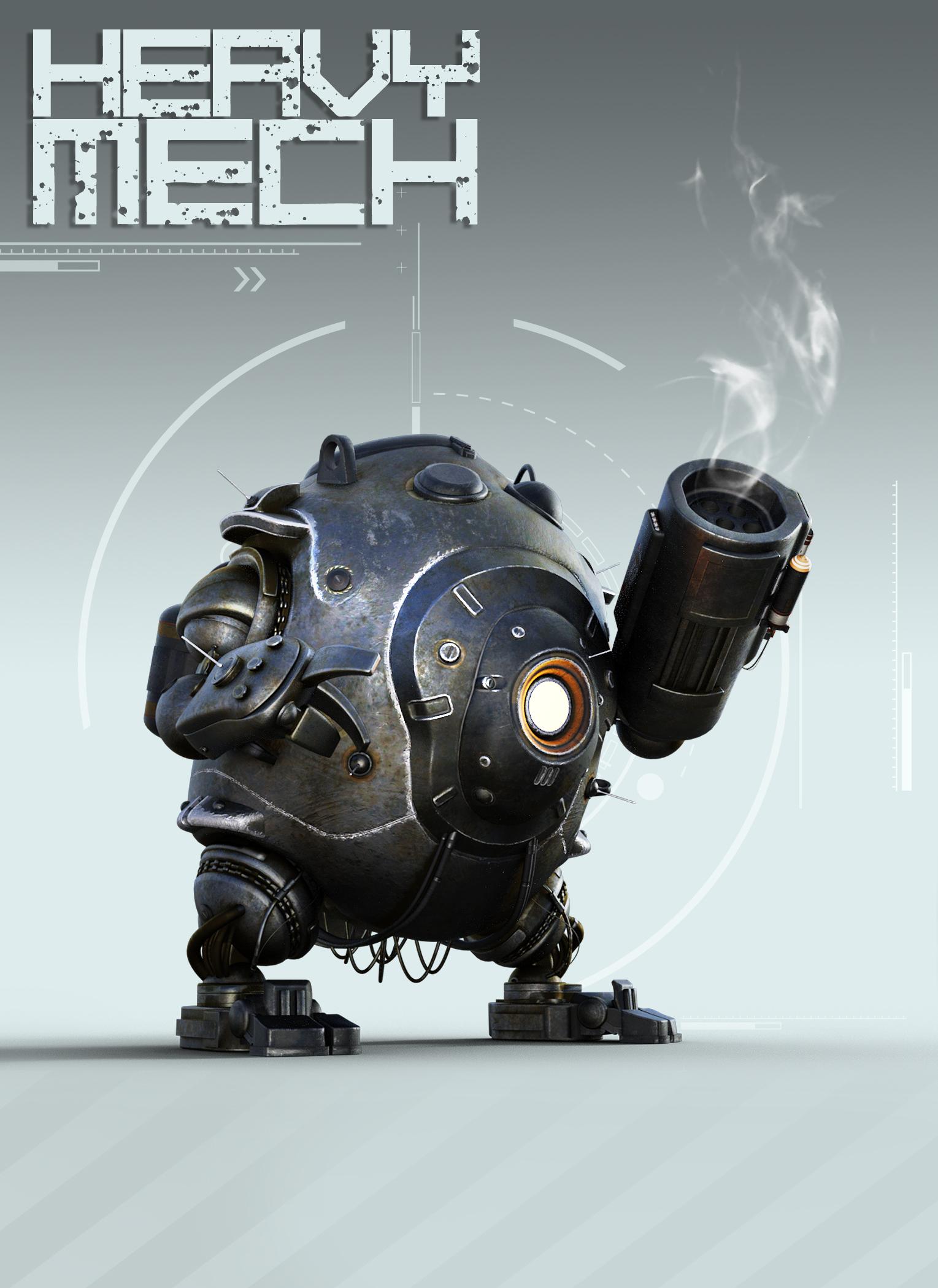 Heavy Mech by: The AntFarm, 3D Models by Daz 3D