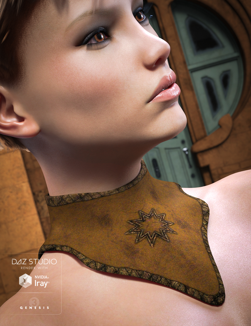 Fantasy Collar Set for Genesis 3 Female(s) by: JGreenlees, 3D Models by Daz 3D