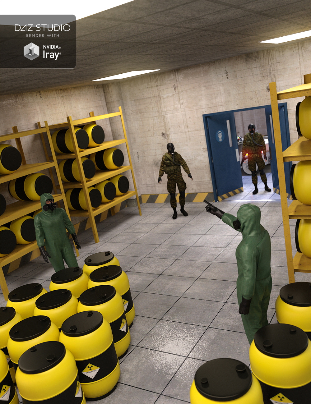 Radioactive Storage Room by: , 3D Models by Daz 3D
