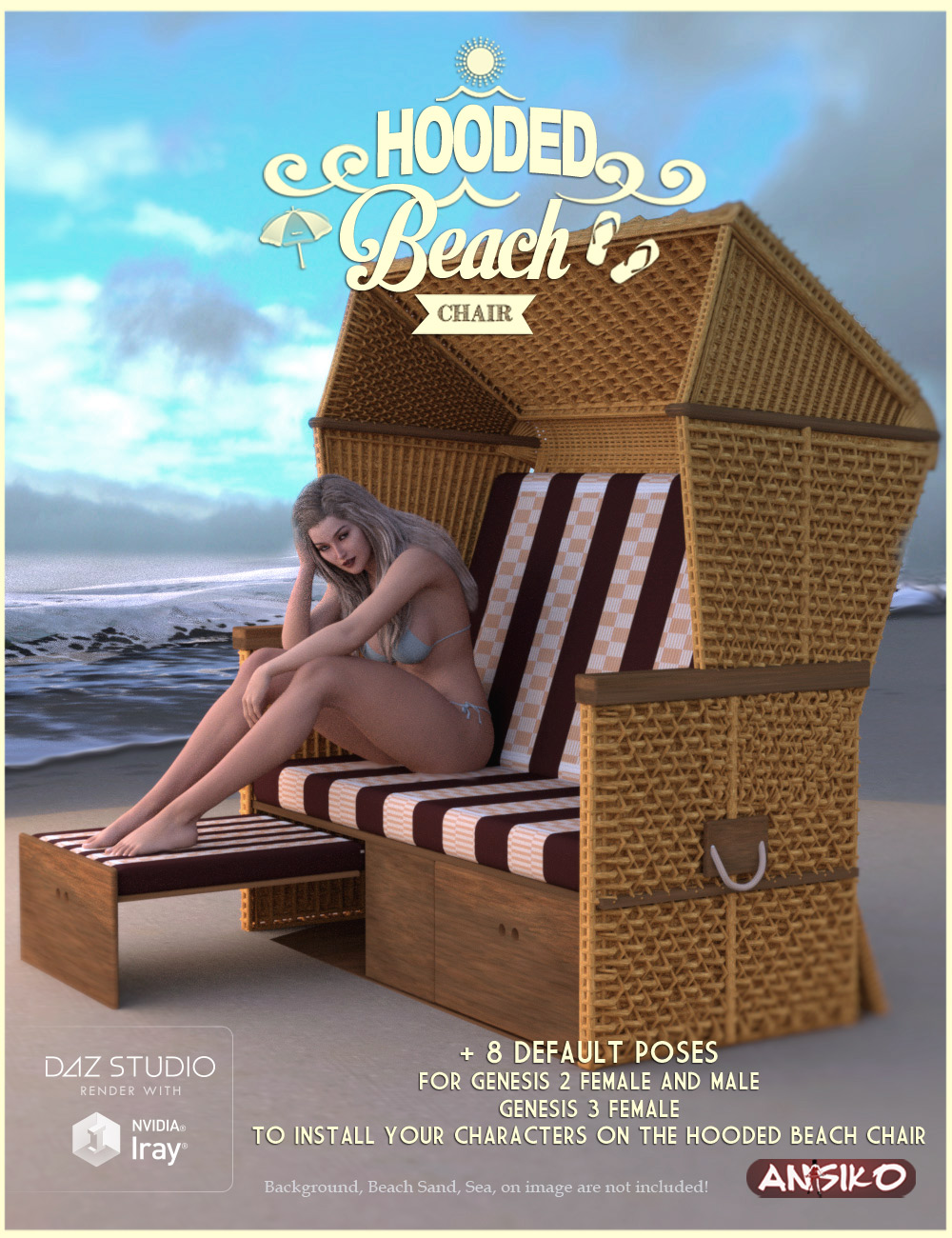 Hooded Beach Chair 3d Models And 3d Software By Daz 3d