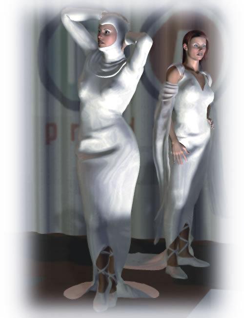 The Dress for Victoria 3.0 by: Lourdes, 3D Models by Daz 3D