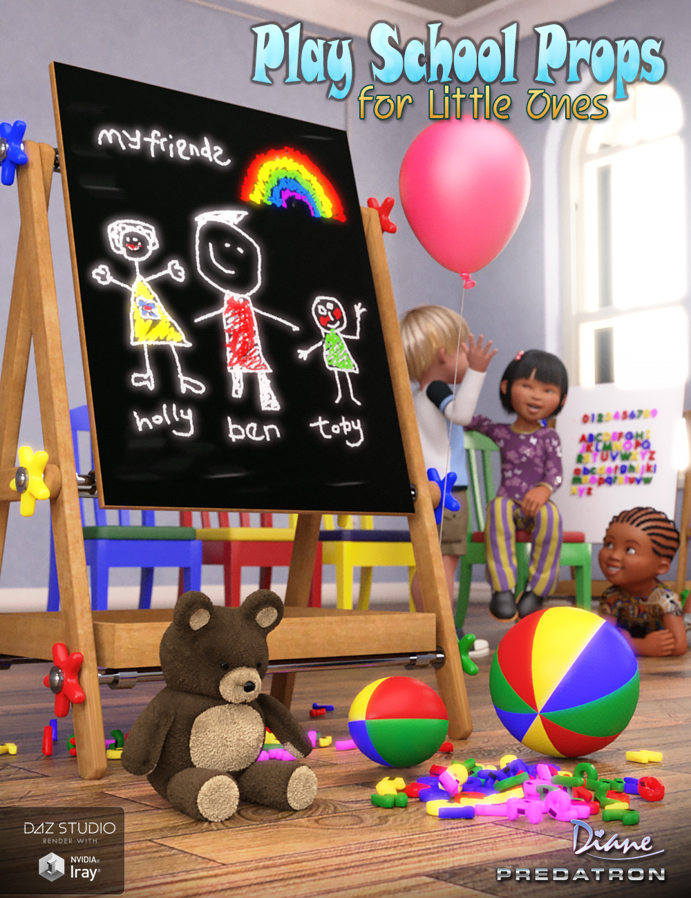 Play School Props for Little Ones by: DianePredatron, 3D Models by Daz 3D