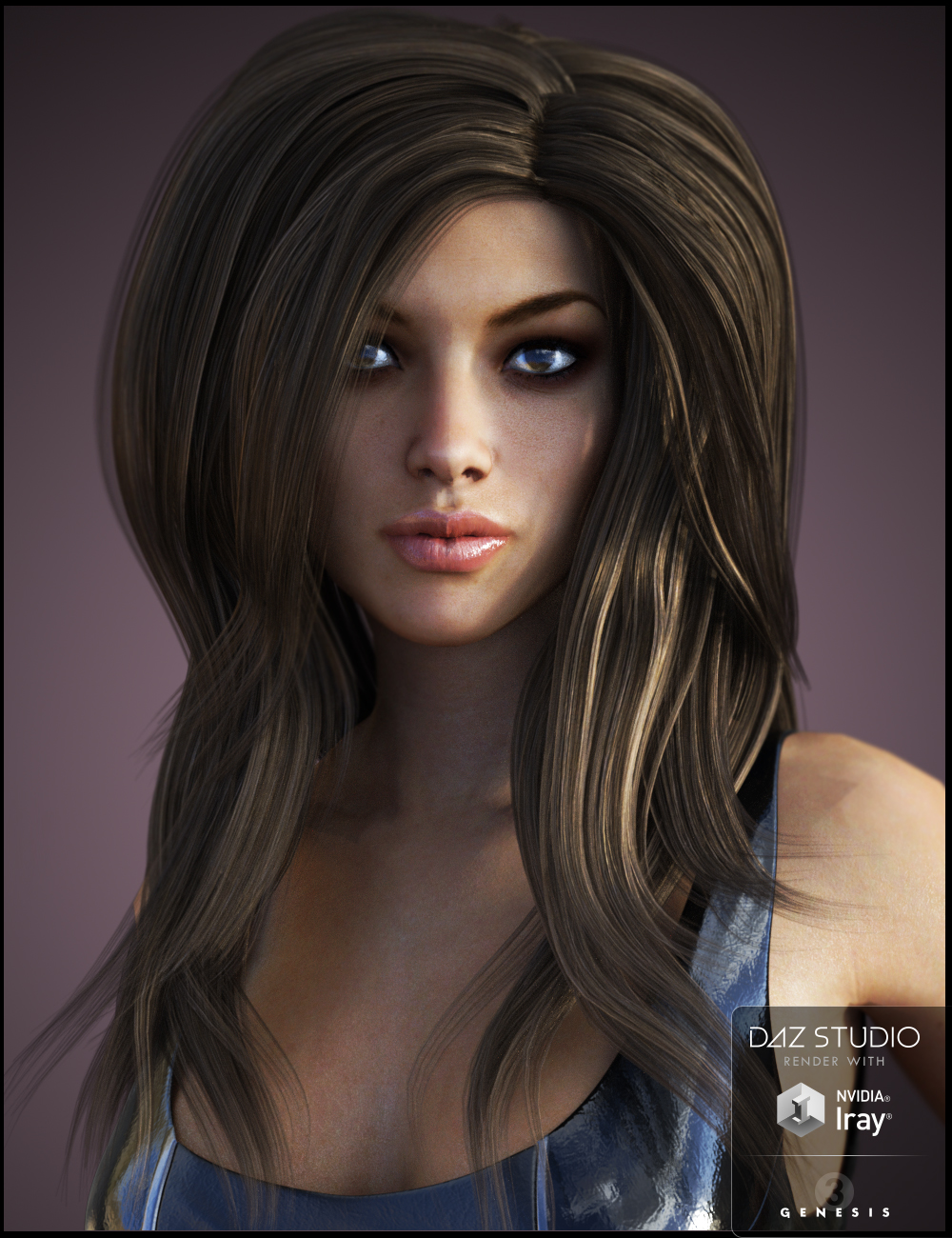 Bardot Hair for Genesis 3 Female(s) by: Nikisatez, 3D Models by Daz 3D