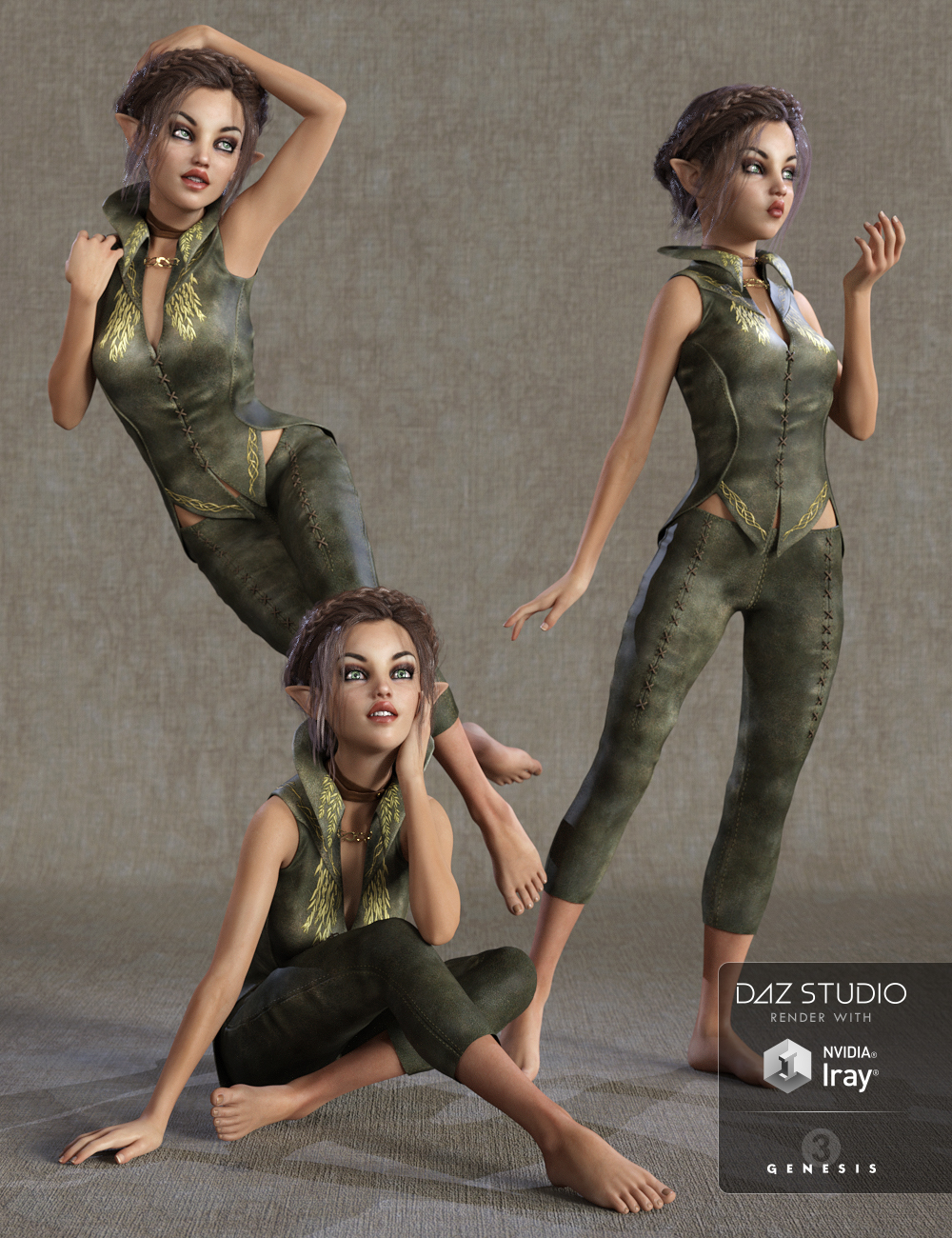Pixie Perfect Poses for Izabella 7 by: lunchlady, 3D Models by Daz 3D