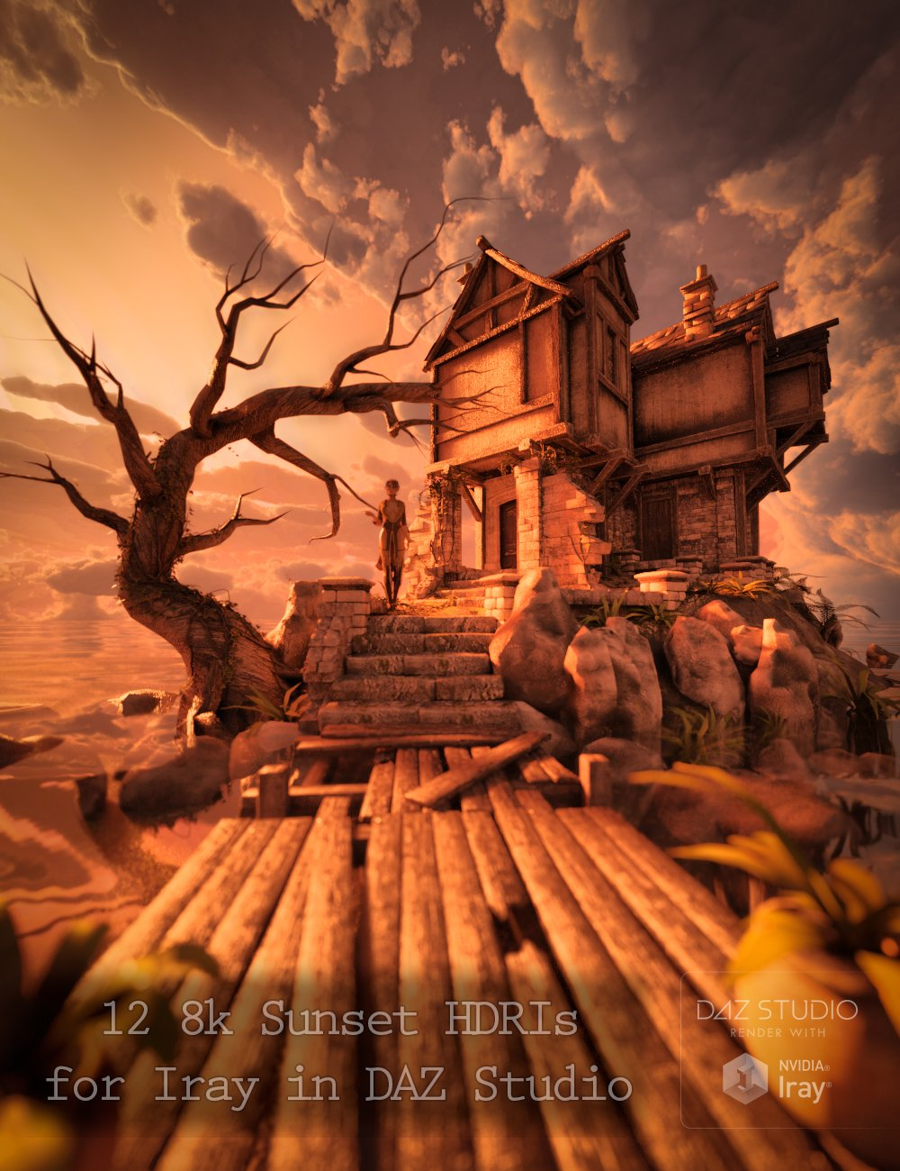 Skies of iRadiance - Sunset HDRIs for Iray by: DimensionTheory, 3D Models by Daz 3D
