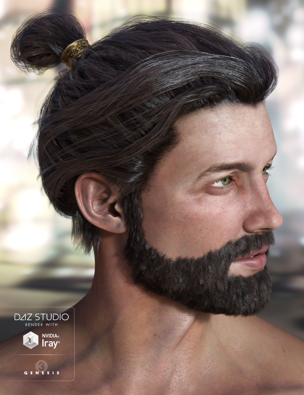 Leandros Hair and Beard by: AprilYSH, 3D Models by Daz 3D