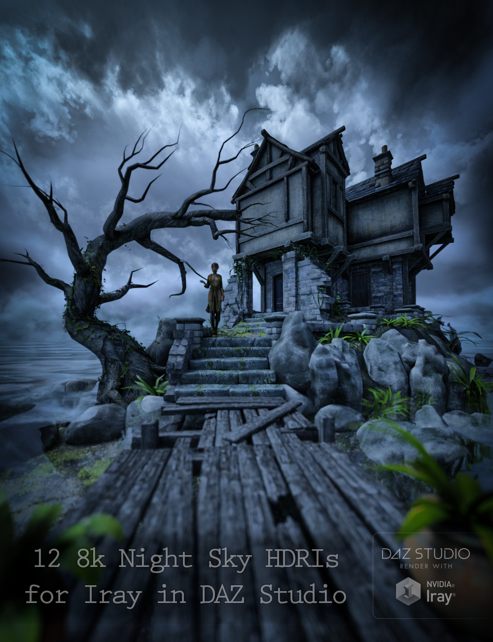 Skies of iRadiance - Night Sky HDRIs for Iray by: DimensionTheory, 3D Models by Daz 3D
