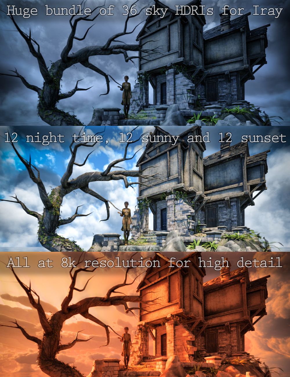 Skies of iRadiance - High Sky HDRI Bundle for Iray by: DimensionTheory, 3D Models by Daz 3D