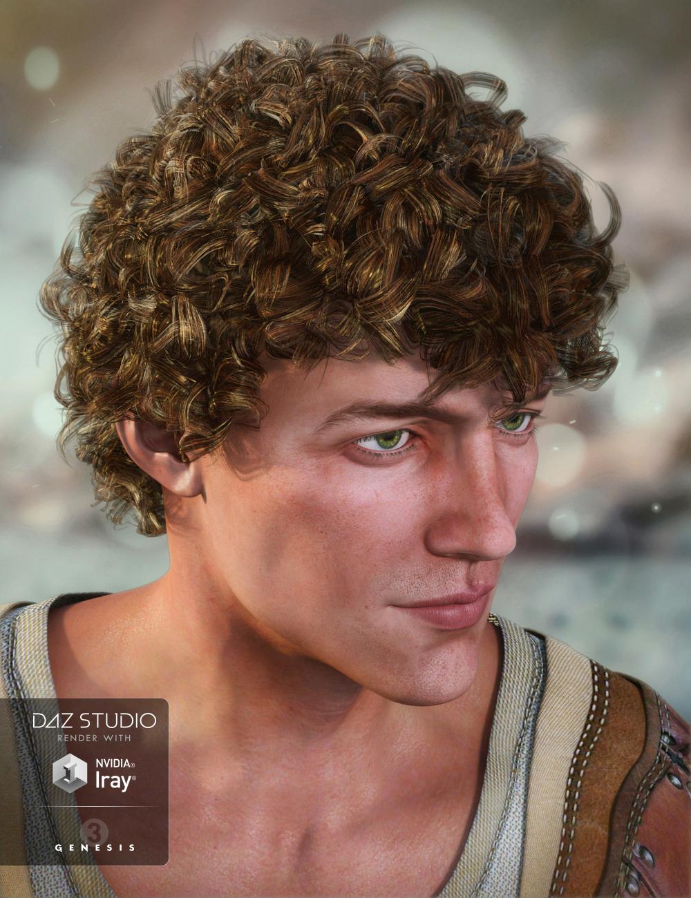 Jonas Hair for Genesis 3 Male(s) by: goldtassel, 3D Models by Daz 3D