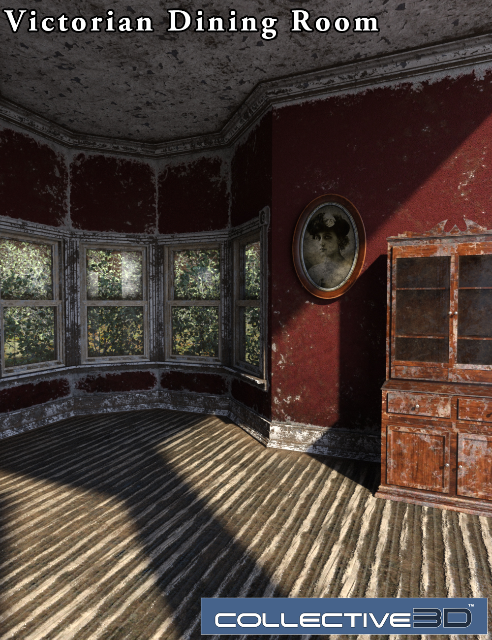 Collective3d Movie Sets Derelict Victorian Dining Room by: Collective3d, 3D Models by Daz 3D