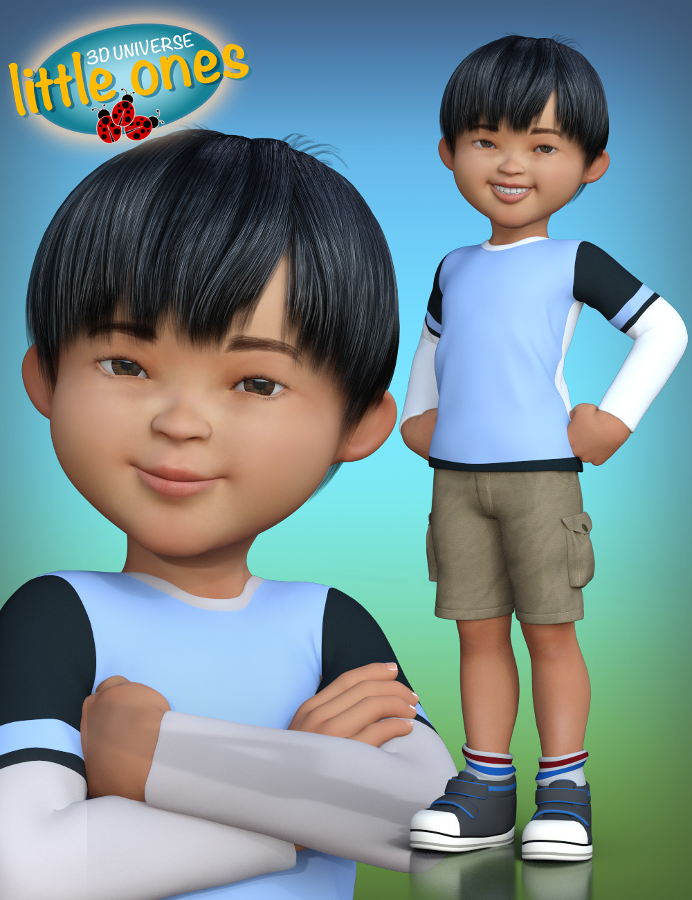 Little Ones (Asian Male) for Genesis 3 Male by: 3D Universe, 3D Models by Daz 3D