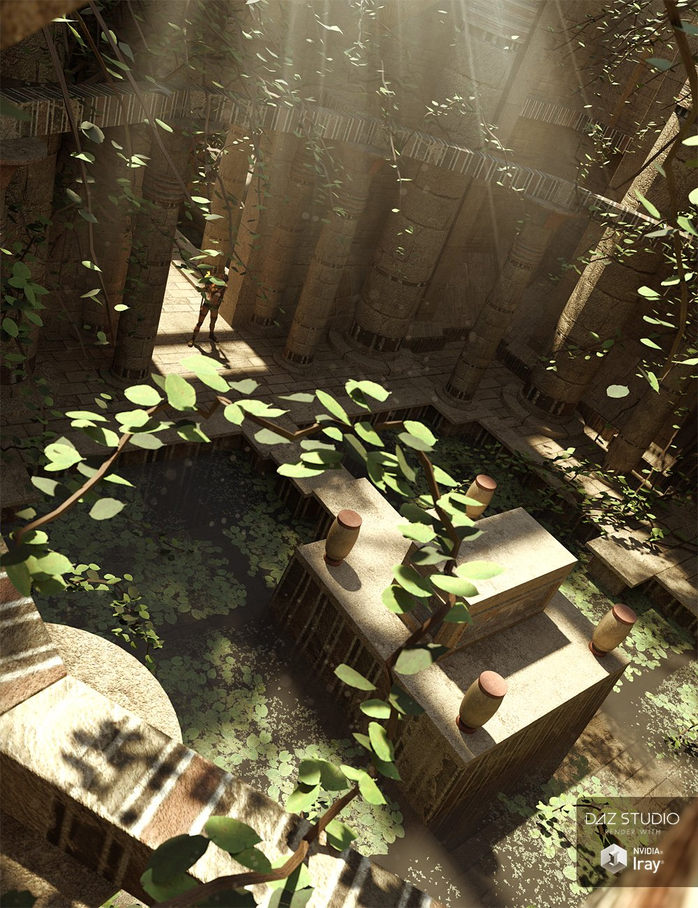 Mysterious Tomb by: ForbiddenWhispersDavid Brinnen, 3D Models by Daz 3D