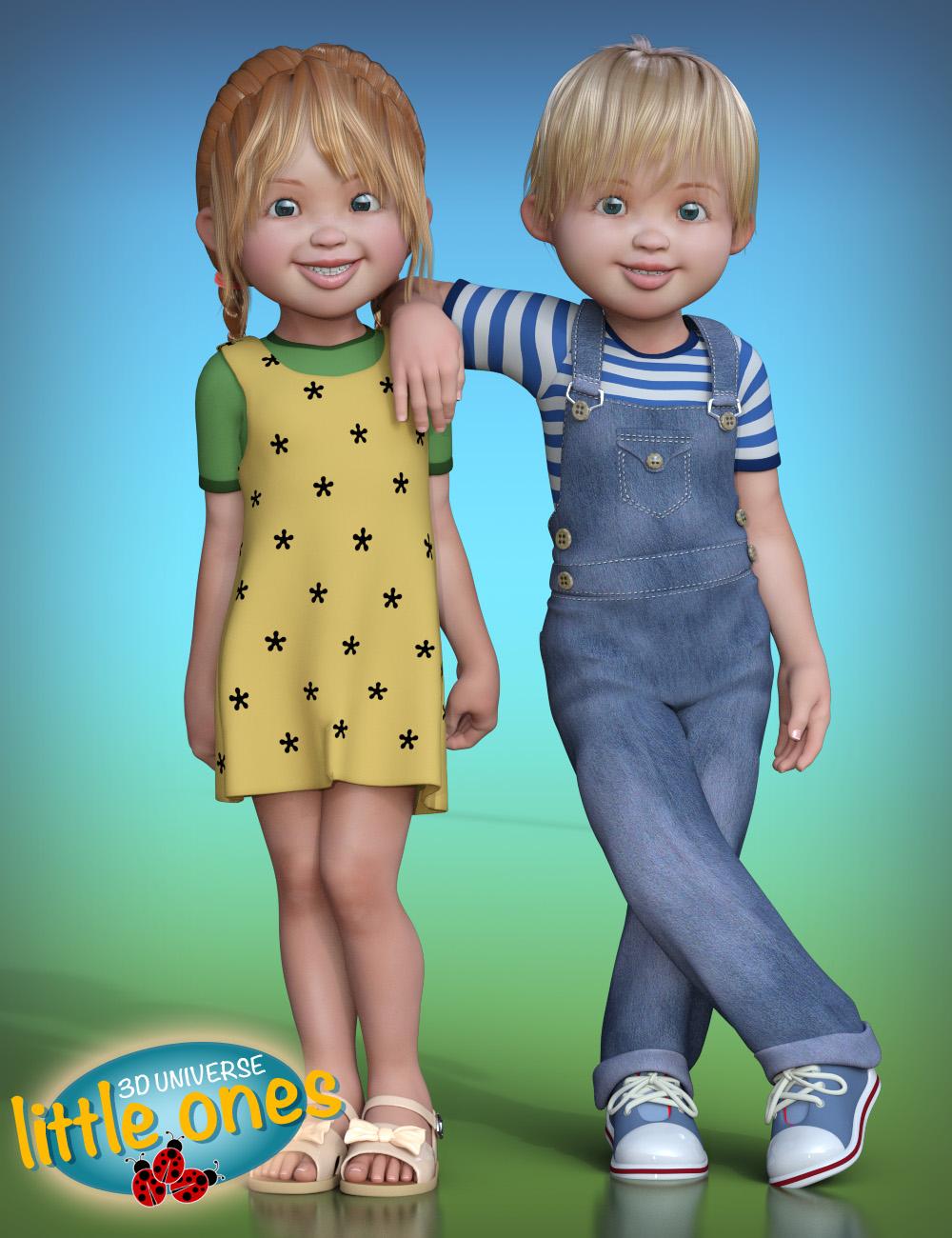 Little Ones (Caucasian) for Genesis 3 by: 3D Universe, 3D Models by Daz 3D
