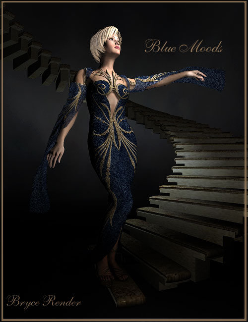 Blue Moods by: LaurieS, 3D Models by Daz 3D
