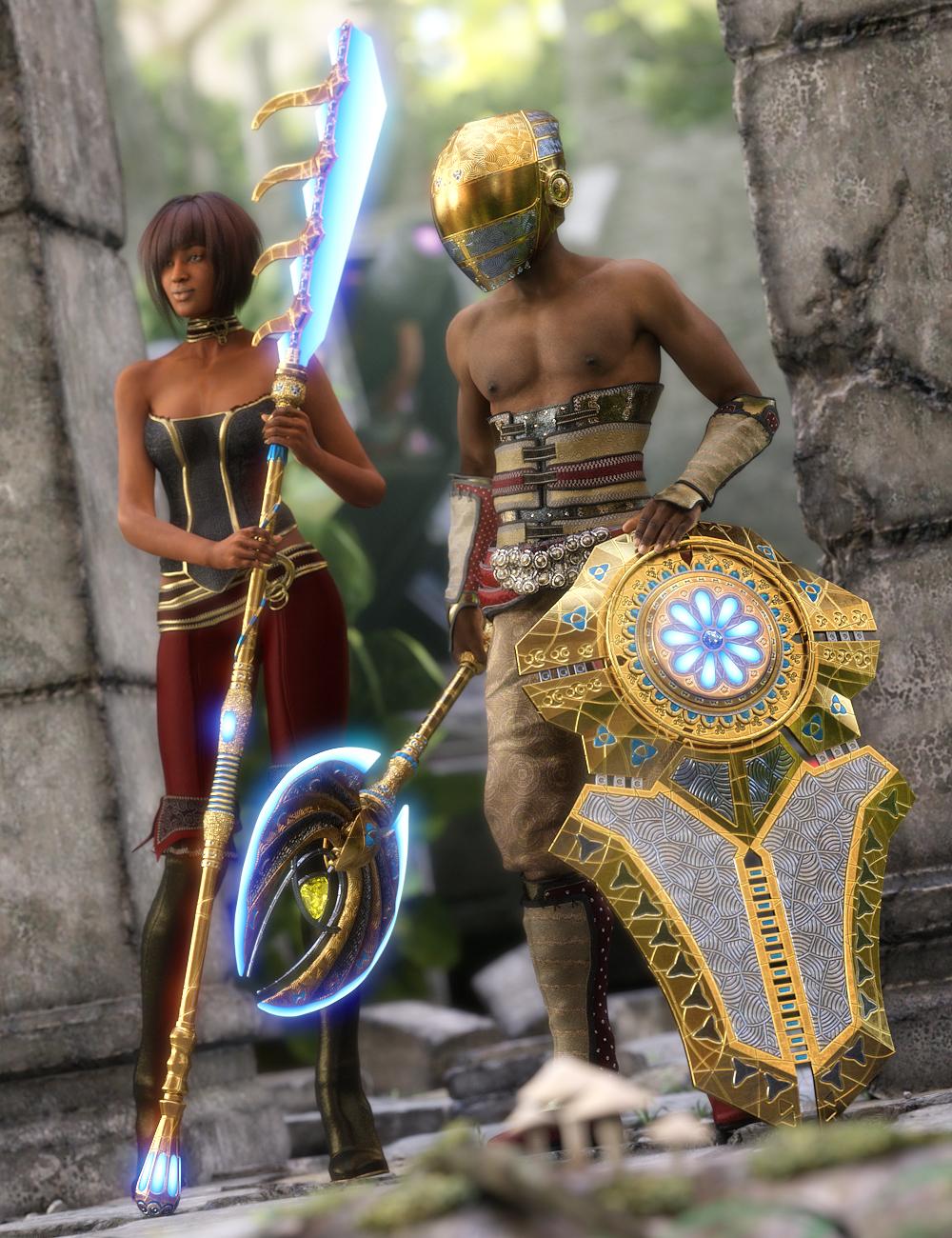 Atlantida Weapons by: petipet, 3D Models by Daz 3D