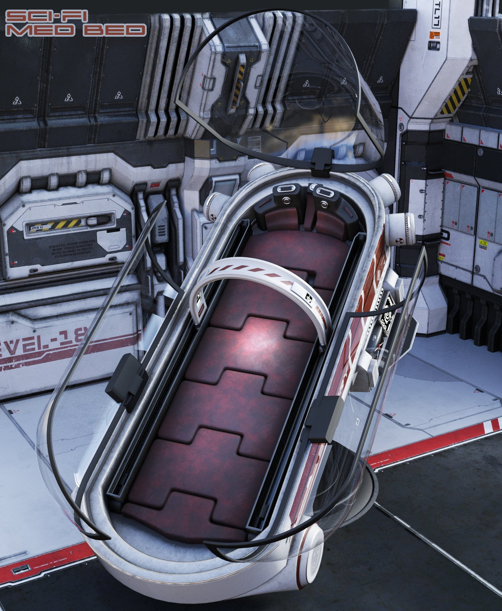 Sci-Fi Med Bed by: The AntFarm, 3D Models by Daz 3D